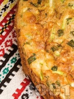 Суфле от тиквички, сирене и риба тон - снимка на рецептата